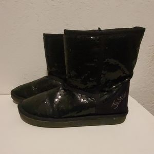 Justice size 7 sequin boots